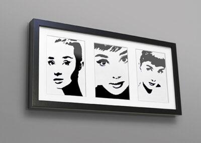 Audrey Hepburn – tusz na papierze