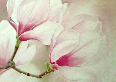 Magnolie – akryl na płótnie