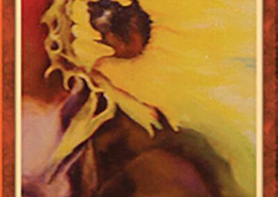 Słonecznik – olej na płótnie